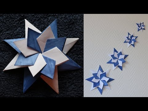 DIY - How to Make Simple  Christmas Star with Paper - Origami Star