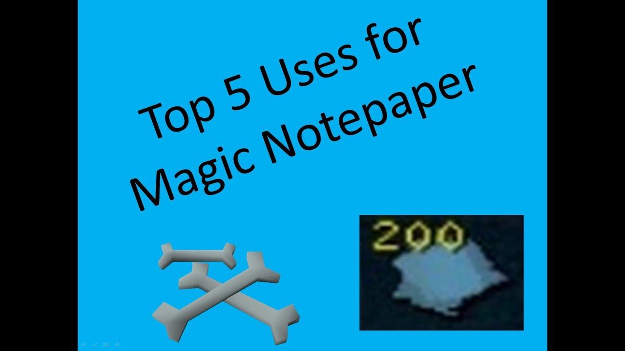 how to get magic notepaper runescape