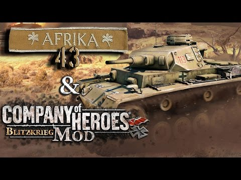 Blitzkrieg mod, Afrika 43; Hot fighting! PvP Gameplay.
