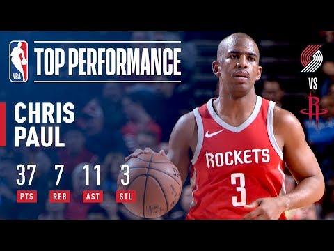 Chris Paul Scores 37 Points vs The Blazers | Jan. 10, 2018