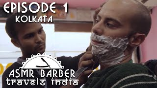 Indian Barber Shave and Head Massage - No talking ASMR