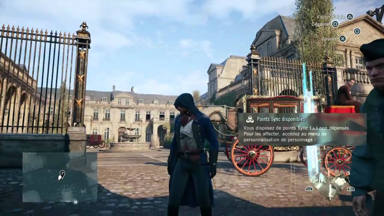 assassin 39 s creed unity versailles gameplay ps4 youtube. Black Bedroom Furniture Sets. Home Design Ideas