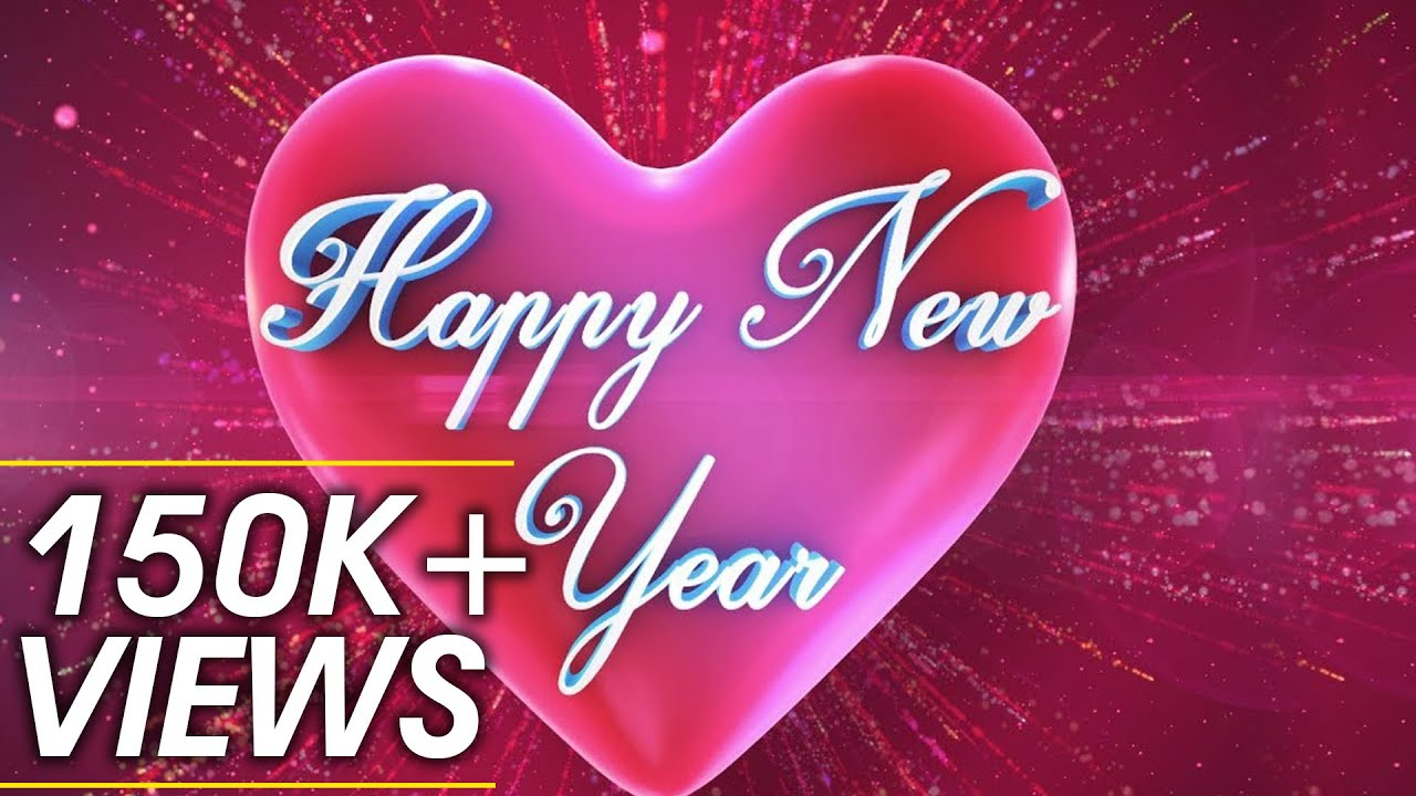 Happy New Year Wishes With Love 3D Animation Greetings Motion ...