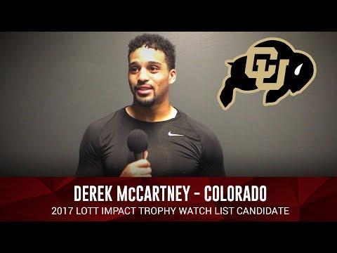 Derek McCartney of Colorado - 2017 Lott IMPACT Trophy Watch List Candidate