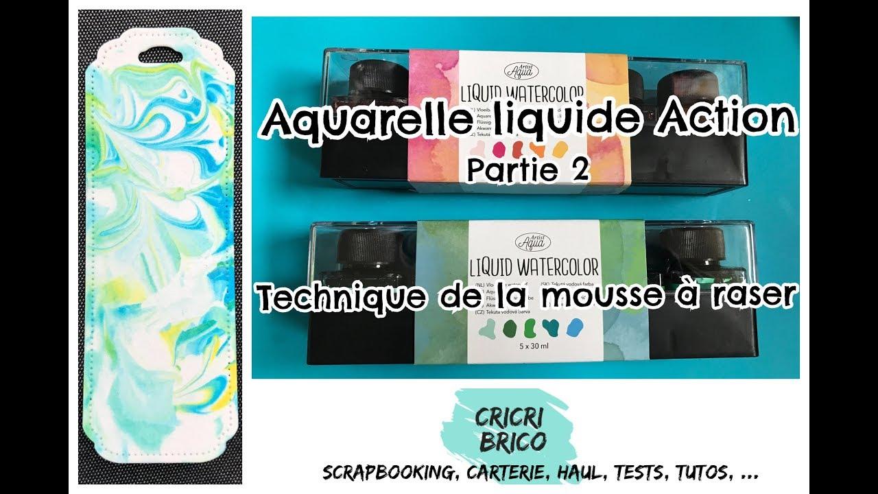 Aquarelle Liquide Action Technique Mousse A Raser Avec Encre