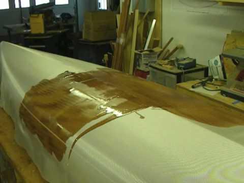 Fiberglassing a Strip Built Kayak