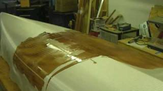 Fiberglassing a Strip Built Kayak