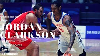 Jordan Clarkson Highlights- Philippines vs Syria - Basketball M 5th-6th Place - 2018 Asian Games