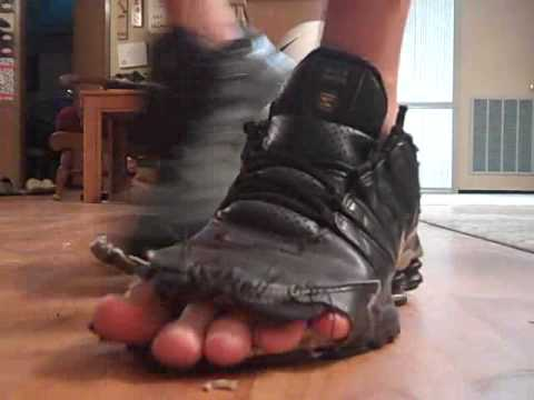 worn out trashed nike shox nz shoes - YouTube 04d5db455