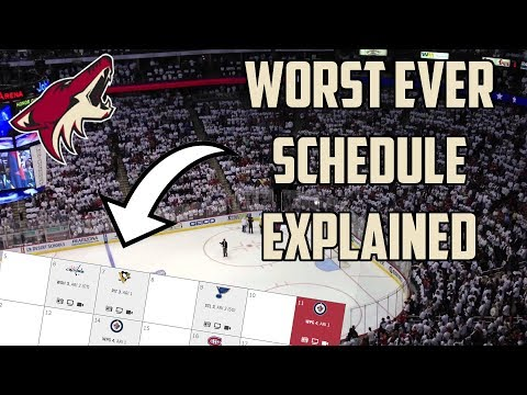 The Reasoning Behind The Arizona Coyotes' Terrible 2018 Schedule