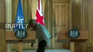 Live: Stoltenberg and May hold press conference after meeting in London