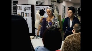 Handkerchief Dress draping Zero-Waste design