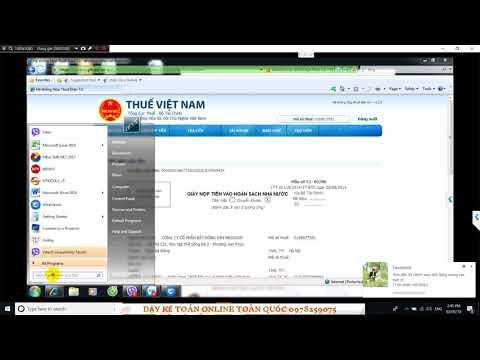 HD nộp tiền thuế GTGT và thuế TNCN qua mạng  E Bông Xinh N 466