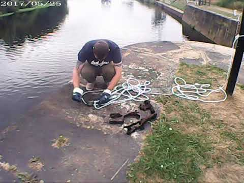 Magnet Fishing At Broadreach Lock Near Wakefield In West Yorkshire 2018 Part 1
