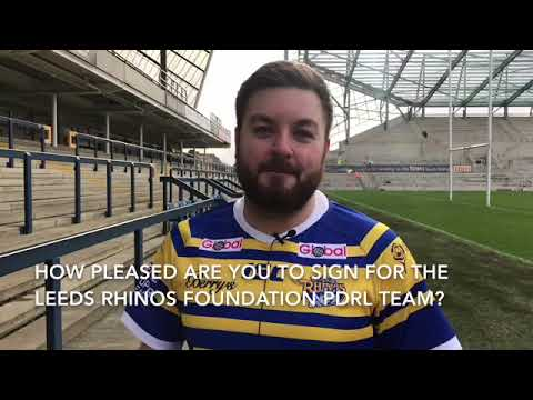 Alex Brooker signs for Leeds Rhinos Foundation's PDRL side