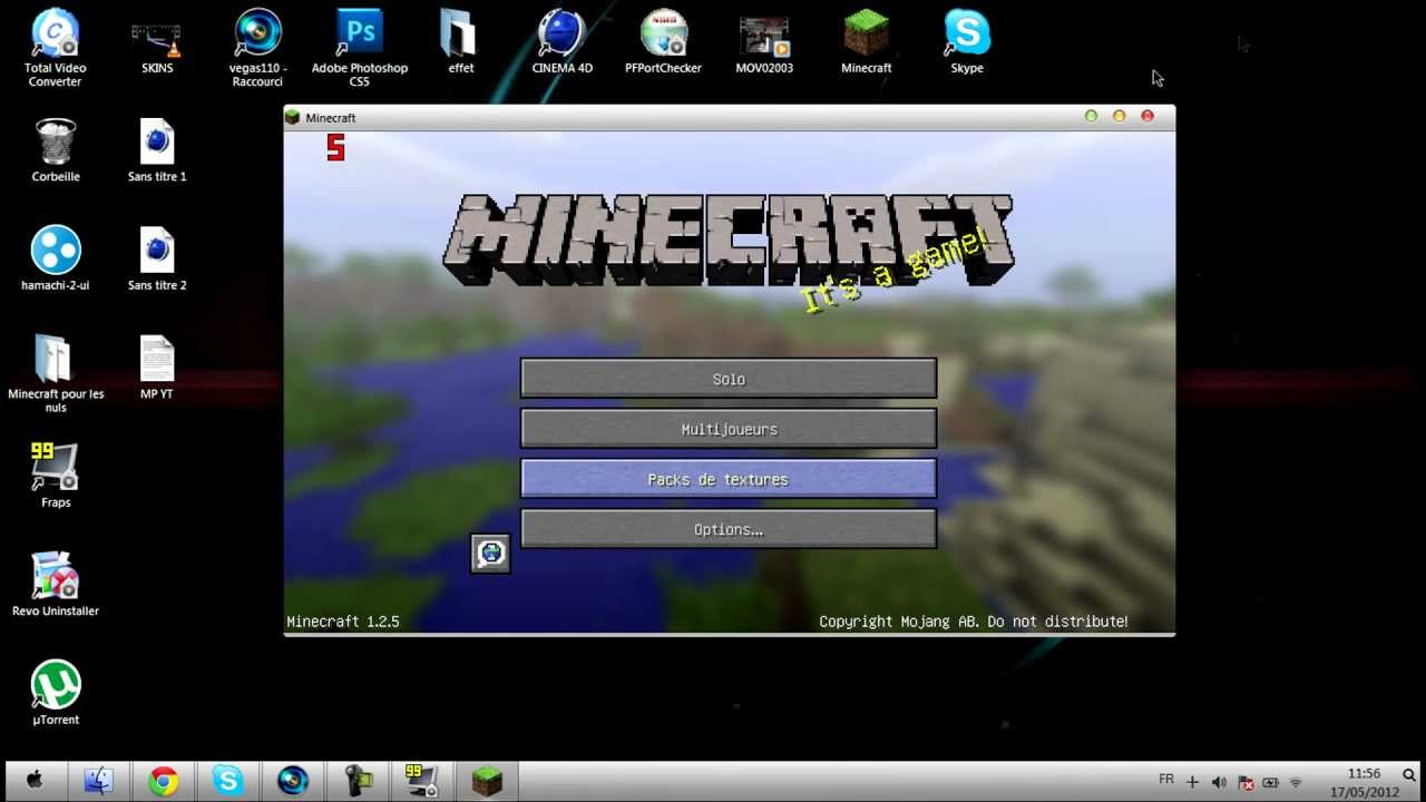 tuto  comment changer son skin minecraft crack u00e9