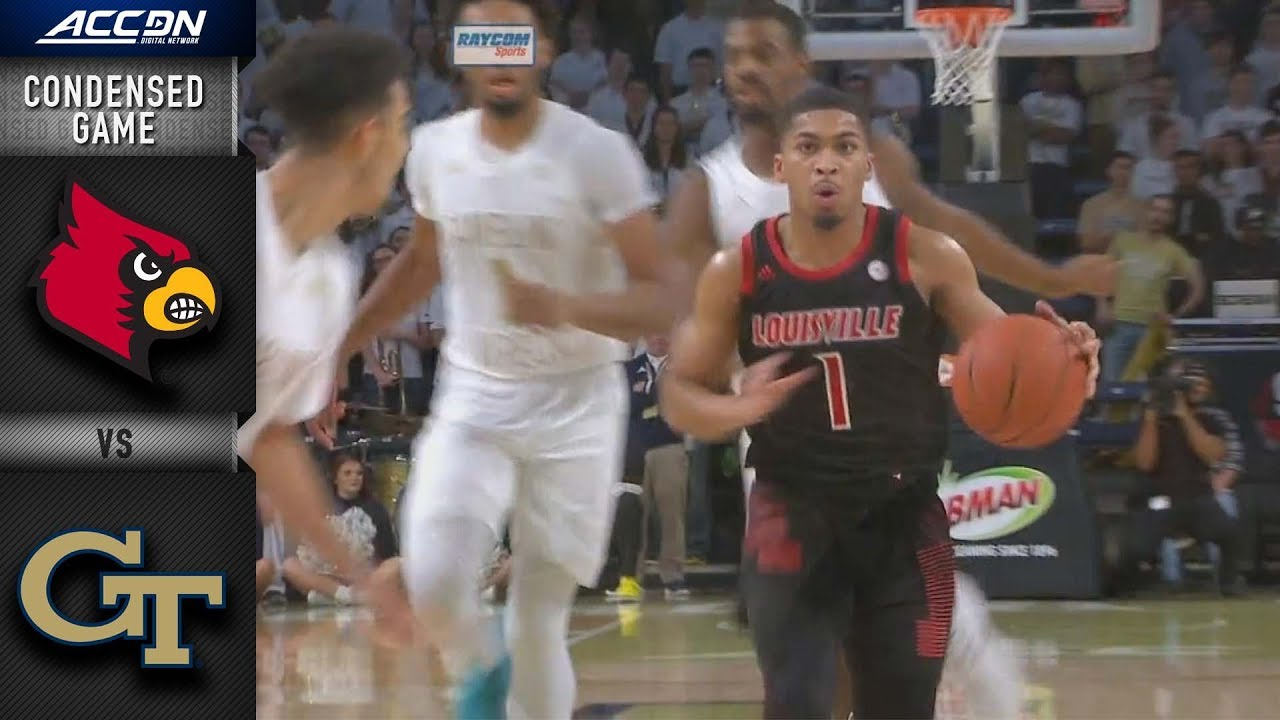 Louisville Vs Georgia Tech Condensed Game 2018 19 Acc Basketball Youtube