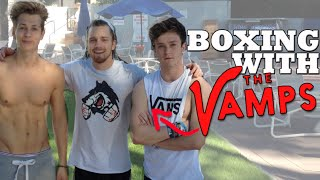 Teaching 'The Vamps' Boxing & Self Defense Techniques
