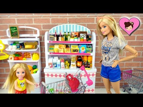 Barbie & Chelsea Grocery Shopping - Barbie Doll Supermarket Playset