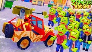 ОХОТА НА ЗОМБИ! Давим зомби на КРУТЫХ ТАЧКАХ Мульт игра для детей Zombie Offroad Safari