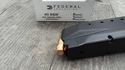 .40S&W, 165gr FMJ, Range Target Practice (RTP40165), Federal, Velocity Test