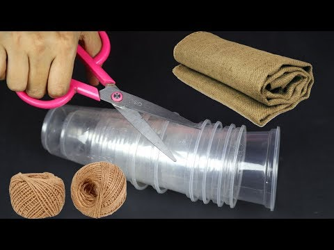 How to reuse Disposal Plastic Glass and Jute | Best out of Waste | Best Home Decorating Ideas