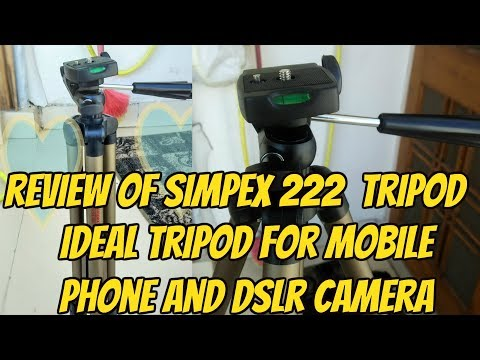 {Hindi} Simpex 222 Tripod (Silver, Supports Up to 3000 g)   Review   Budget Friendly !