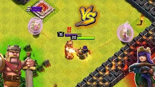 KING WALK vs QUEEN WALK | COC BARBARIAN KING vs ARCHER QUEEN | CLASH OF CLANS HERO vs HERO BATTLE !