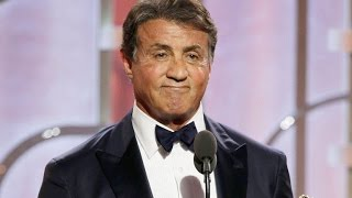 Sylvester Stallone Wins First Golden Globe Ever at Age 69