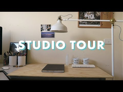 ART STUDIO & WORKSPACE TOUR