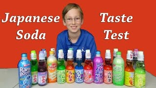 JAPANESE RAMUNE SODA POP TASTE TEST REVIEW | COLLINTV