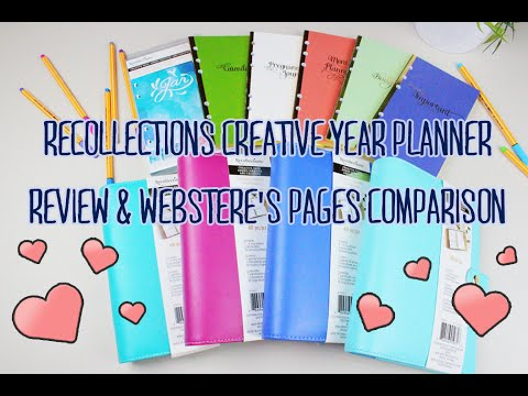 UPDATED Michaels' Recollections Planner & Webster's Pages Comparison