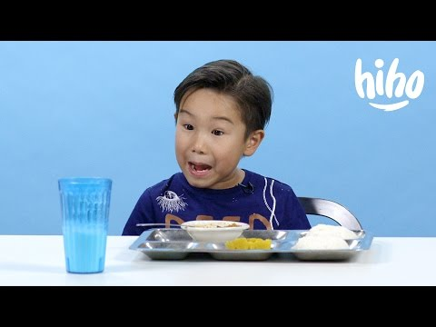 School Lunches | American Kids Try Food From Around the World - Ep 2 | Kids Try | Cut