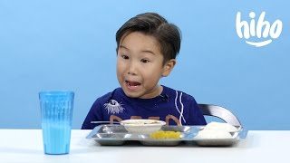 American Kids Try - Episode 2: School Lunches from Around the World(Kids try school lunches from around the world. For licensing and media inquiries: rudy@cut.com Produced, Directed, and Edited by Cut.com Talent: Chase ..., 2015-08-26T18:59:50.000Z)