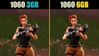 Fortnite GTX 1060 3GB vs. GTX 1060 6GB