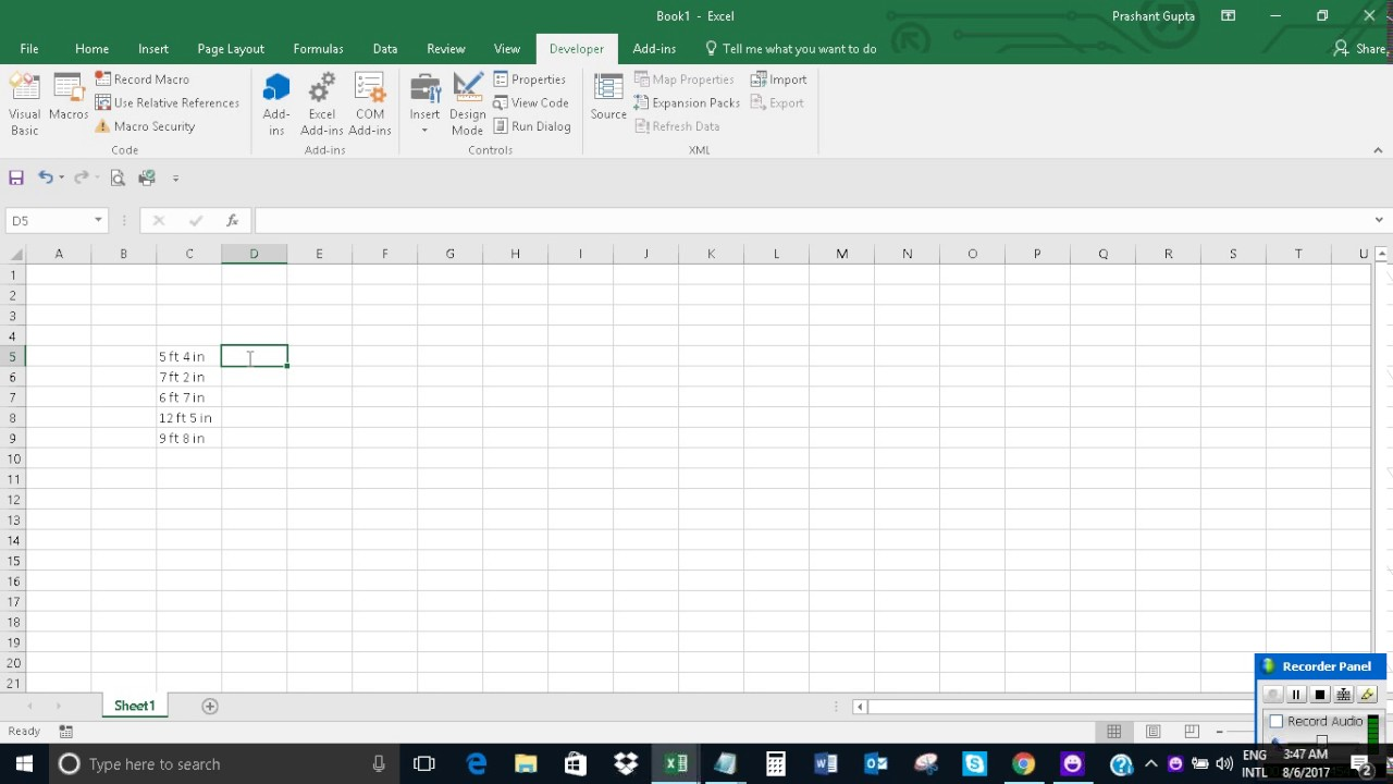 Convert Feet Inches To Decimal Feet In Excel