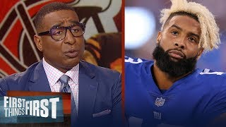 OBJ defends himself against the Giants on Twitter, Cris Carter reacts | NFL | FIRST THINGS FIRST