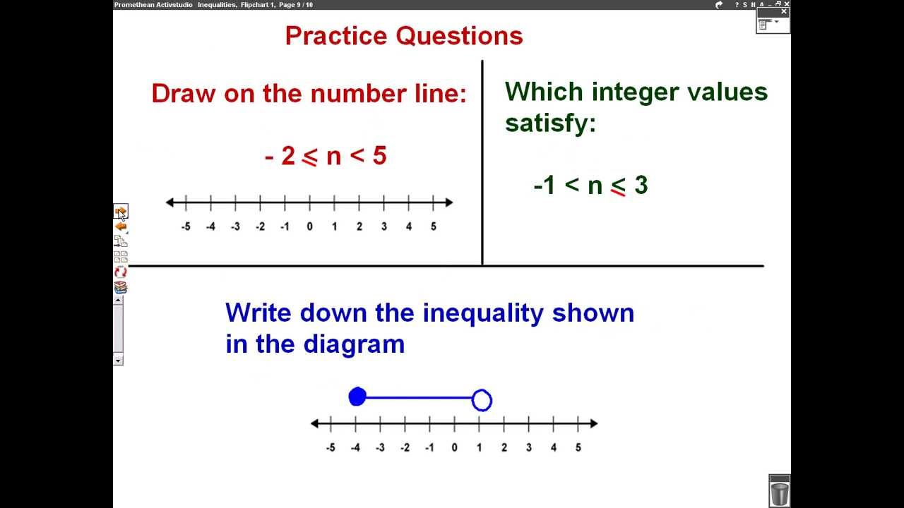 Drawing Using Inequality Number Lines : Inequalities number line mathscast youtube