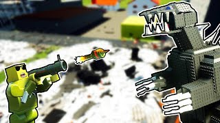Billy Bob Jr VS Godzilla! SAVE THE CITY! - Brick Rigs Game - Brick Rigs Gameplay & User Creations