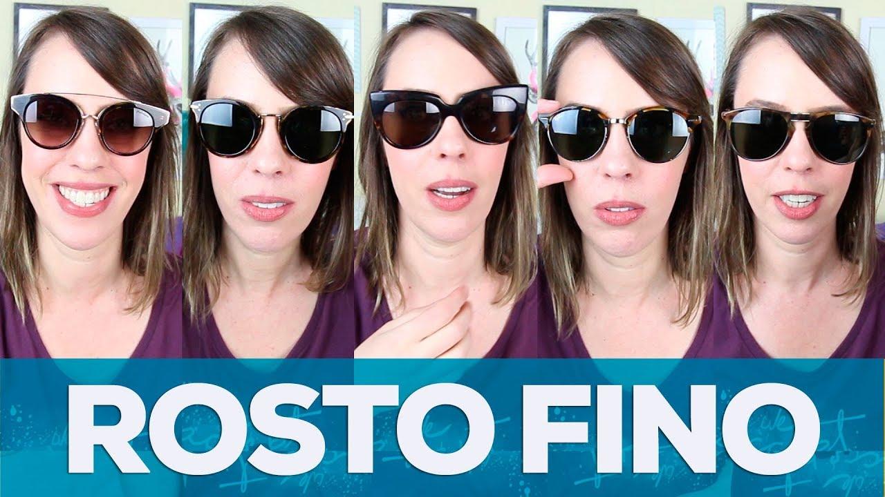 8519ccbaeaae2 5 modelos de óculos de sol para rosto fino