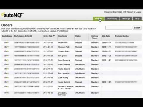 AutoMCF.com Product Demonstration - Connect FBA to eBay, Rakuten, Sears, NewEgg