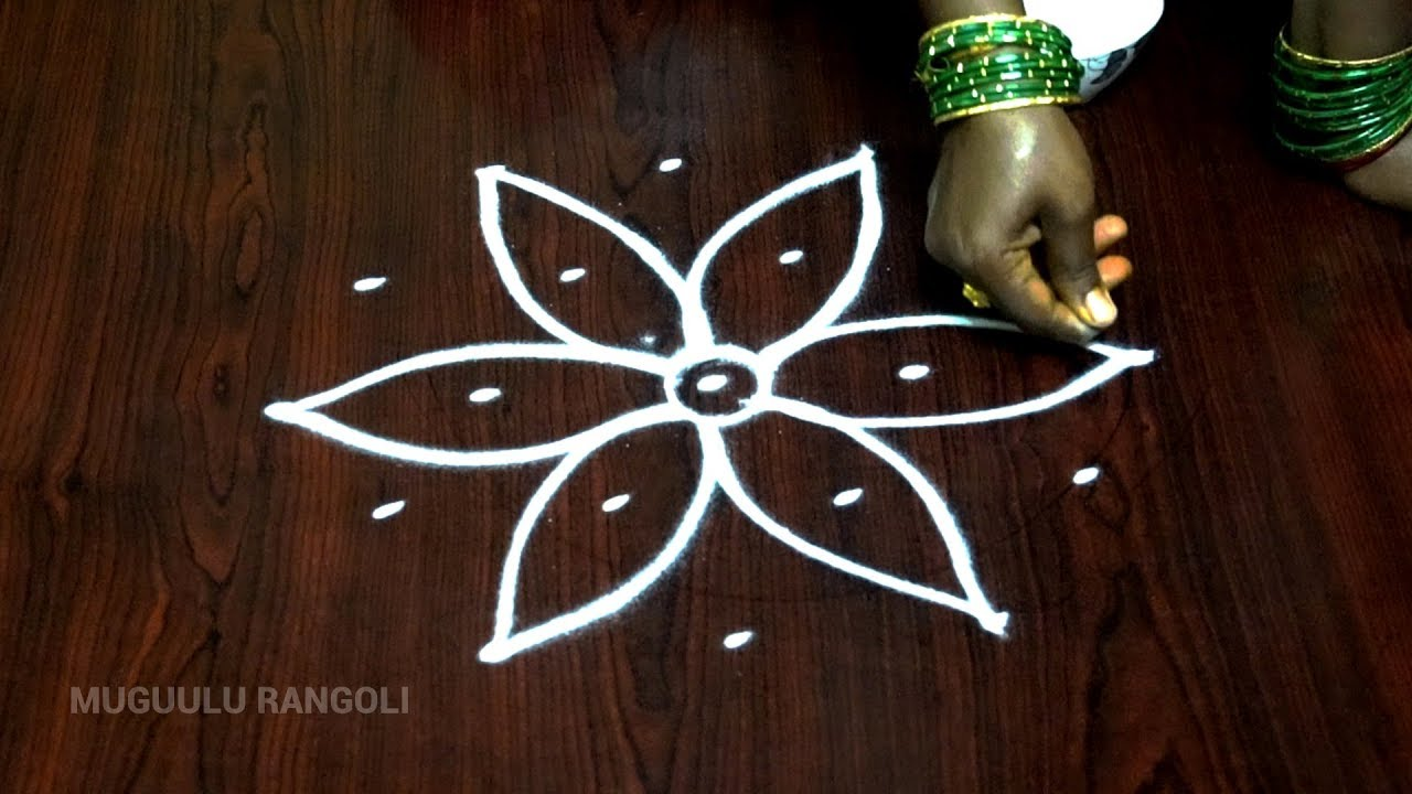 five dots rangoli five pulli kolam simple pulli kolam simple