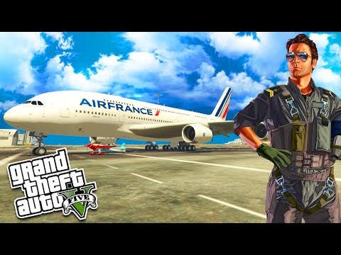 GTA 5 PC MODS : A380 LUFTHANSA FLIGHT W/ ATC RADIO COM (FUNNY MONTAGE)
