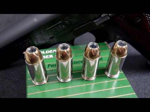 AMMO TEST:  .45 ACP Remington Golden Saber 185 gr JHP
