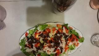 Салат с вялеными памидорами