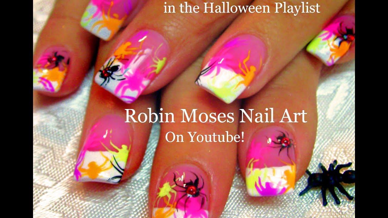Diy easy halloween nail art neon spiders nails design tutorial diy easy halloween nail art neon spiders nails design tutorial prinsesfo Gallery