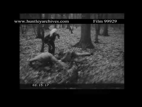 Stunt Woman in Fight Training.  Archive film 99929