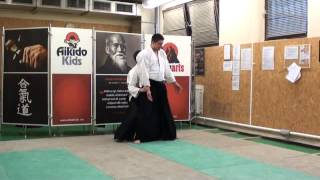 ushiro ryotedori jujigaraminage [TUTORIAL] Aikido empty hand advanced techniques