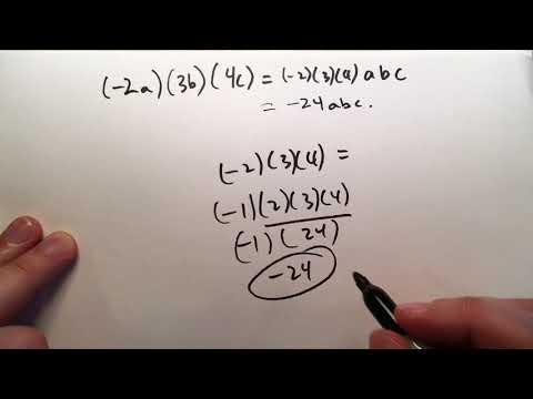 1.3 Rules for Multiplication (Basic Mathematics)