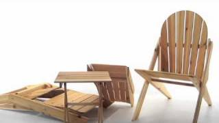 Folding Adirondack Chair, The Ponder And Little Ponder From Cedar Crossing .cc
